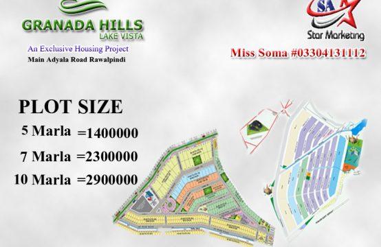 5 marla plots are available in GRANADA HILLS